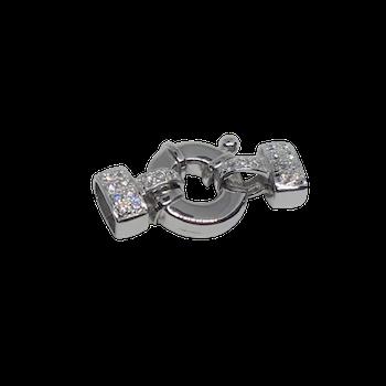Silverlås med bling 30 mm