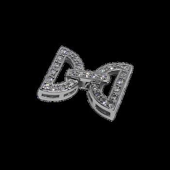 Silverlås för flera rader 25 mm