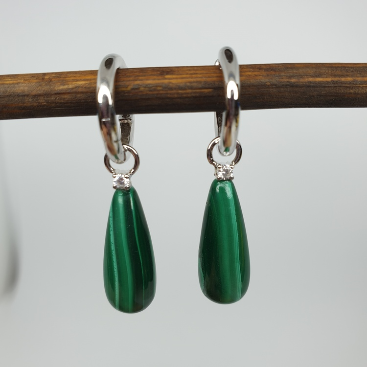 malakit grön droppe på silvercreol