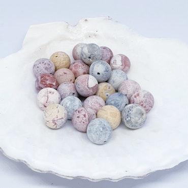 Jaspis, mångfärgade runda 10 mm