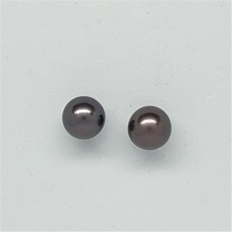 Ett par vackra mörkt brun-lila pärlo