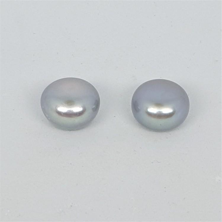 Silvergrå pärlor 9,5-10 mm