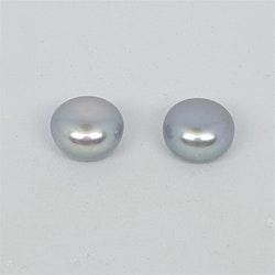 Silvergrå pärlor 9,5-10 mm pris/par