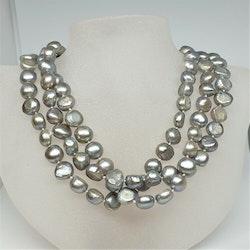 Mörk grå pärlor 125 cm