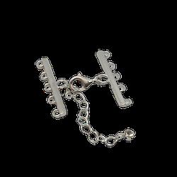 Silverlås med kedja för fem rader 30mm