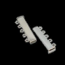 Silverlås för fem rader 33 mm magnet