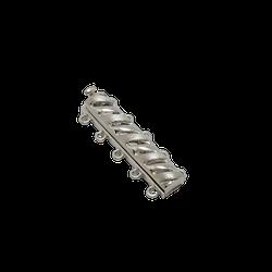 Silverlås för fem rader med mönster 28mm