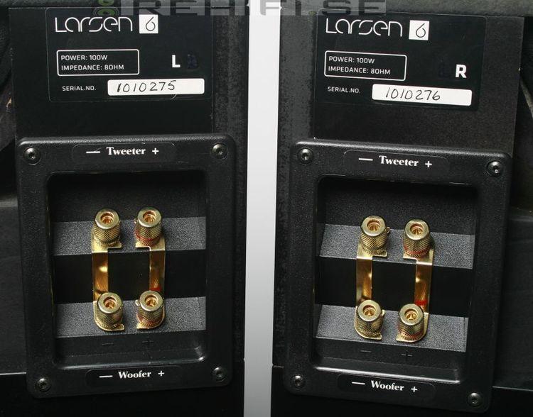 Larsen 6.2 golvhögtalare högtalare med ett fantastiskt ljud Bi-wire