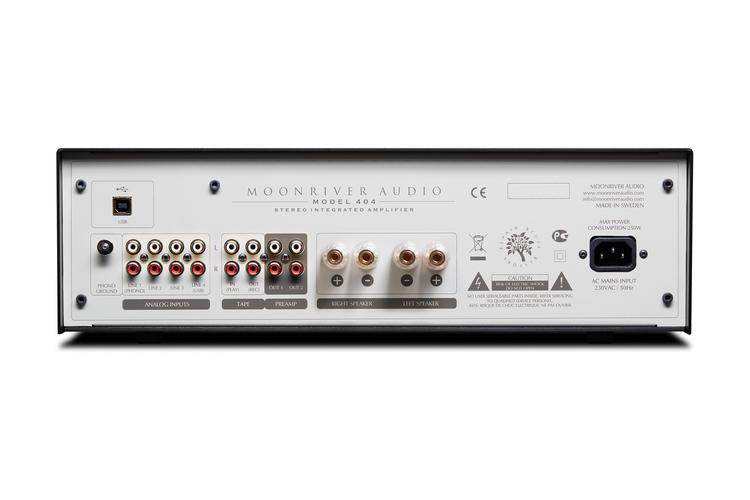 Moonriver model 404 Fågelsång integrerad förstärkare DAC, phonokort hifi välljud ljudbild varmt ljud