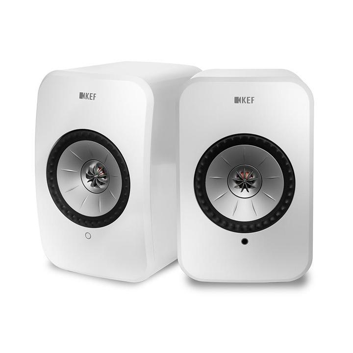 KEF LSX trådlös högtalare med wifi blåtand bokhyllehögtalare datorhögtalare inbyggd förstärkare.