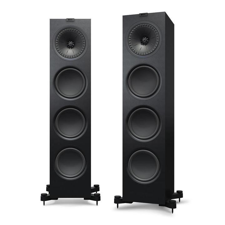 KEF Q950 Golvhögtalare med en fantastisk fyllighet Svarta högtalare