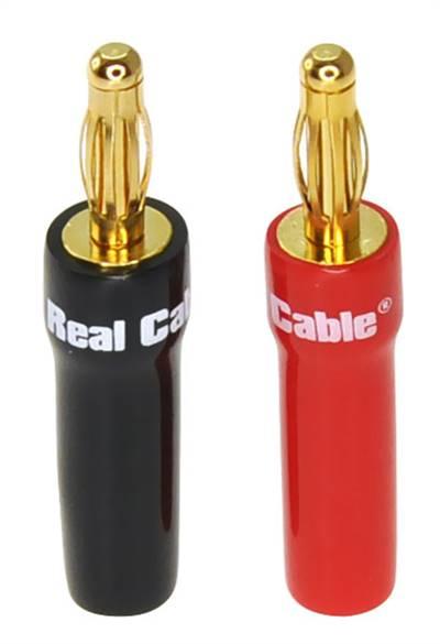 Real cable Lödbara banankontakter, klarar 5mm2 B6035AS
