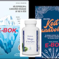 Kampanjspecial -Begänsat antal!  2 e-böcker och kosttillskott på köpet hem i brevlådan!
