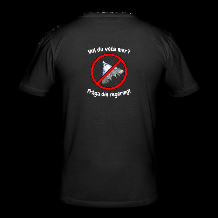 En annorlunda och tuff t-shirt med tryck på ryggen!