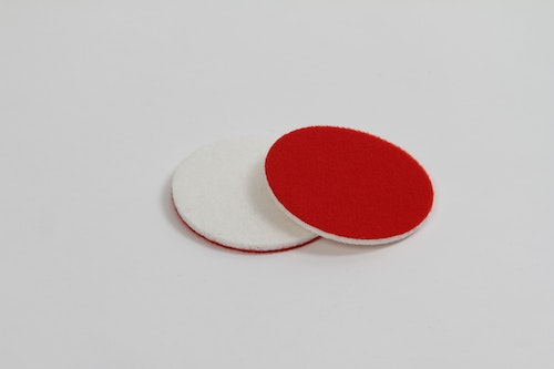Glas pad polishing pad: 76 mm