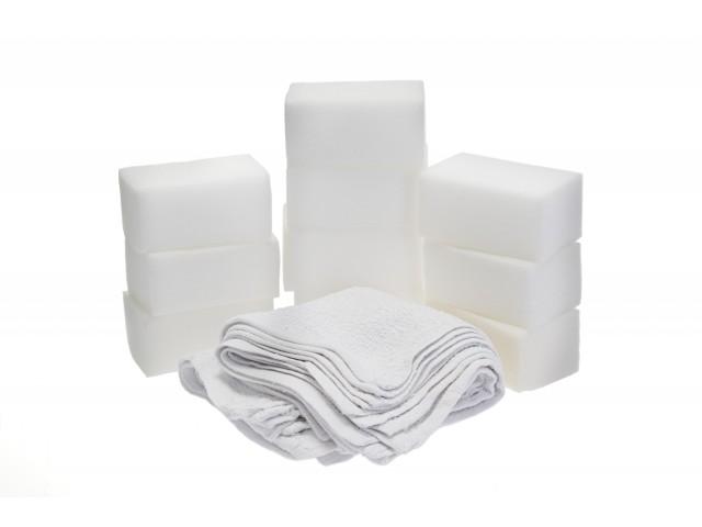 Applikator & rengöringssvamp, big + terry towel (10-pack)