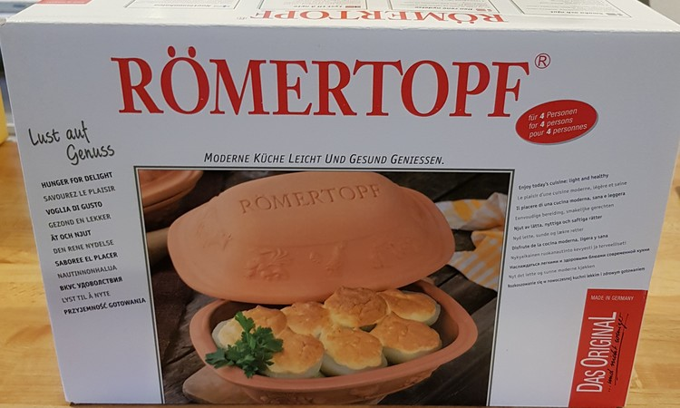 Römertopf Lergryta Rustico 4 personer 2,5 kg 3 liter. Mellan. Glaserad