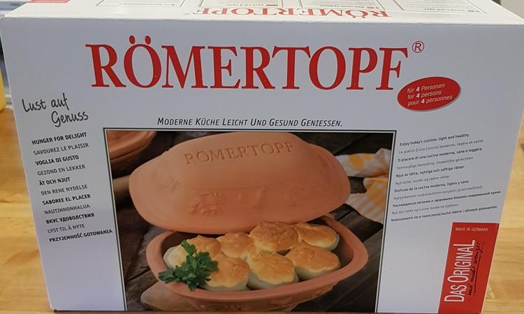 Römertopf Lergryta Rustico 6 personer 5 kg 4 liter. Stor. Glaserad