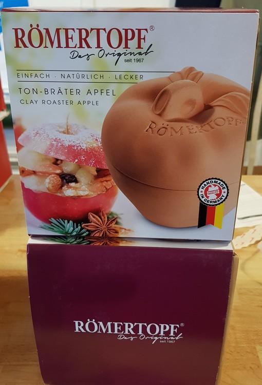 Römertopf Äpplelergryta Dessert Glaserad