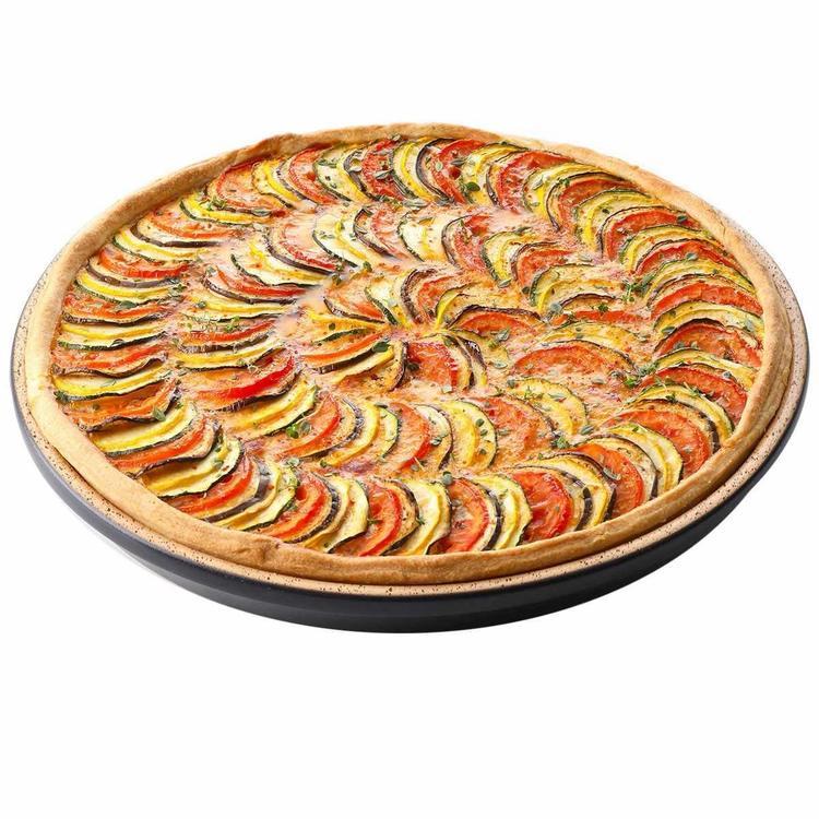 Römertopf Lafer BBQ Baksten / Pizzasten  31,5 cm. Eldfast Oglaserad