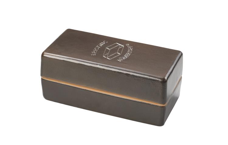 Römertopf Lafer BBQ  Brick BBQ-lergryta 1 person 0,8 kg 0,6 liter. BLACK EDITION  Eldfast Glaserad
