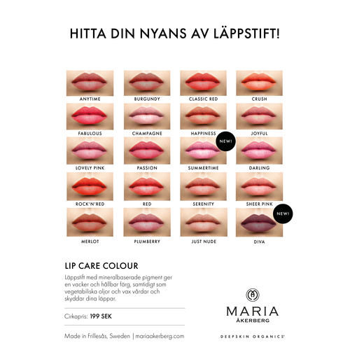 Champagne - Ljust Korallrosa Ekologiskt Läppstift - Maria Åkerberg