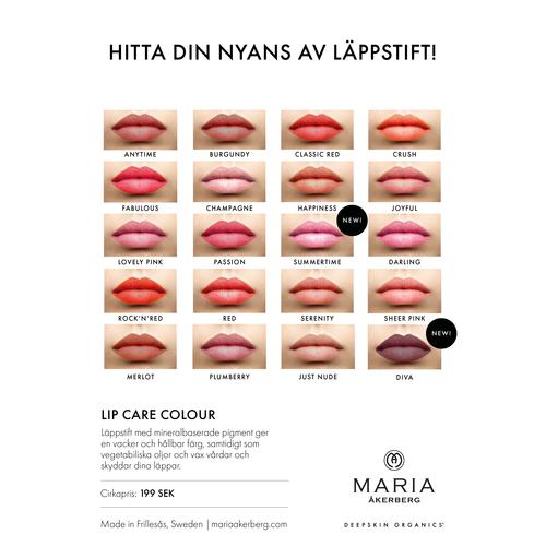 Summertime - Rosa, Skimrande Transperant Läppstift - Maria Åkerberg