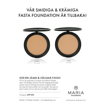 Ekologisk Fast Foundation / Concealer 2 nyanser - Maria Åkerberg