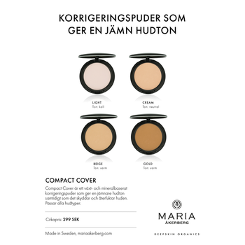 Ekologiskt Korrigeringspuder - Compact Cover - 4 nyanser - Maria Åkerberg