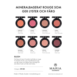 Mineralbaserat Blush / Rouge - 8 Nyanser - Maria Åkerberg