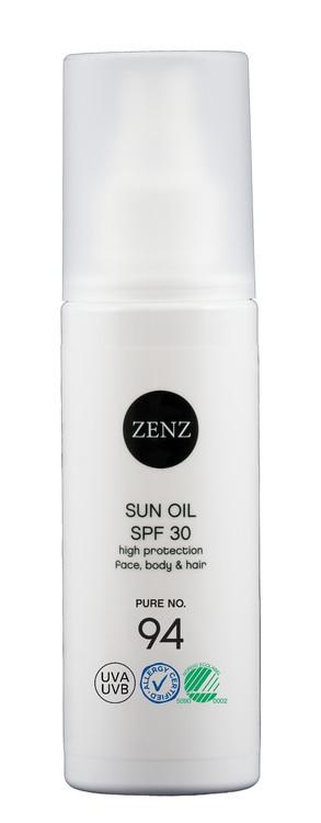 Sun Oil SPF 30 Pure No.94 - Giftfritt solskydd - Zenz Organic 150 ml