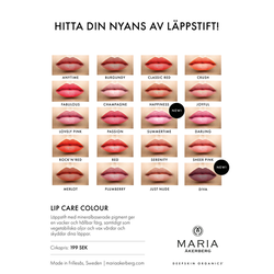 Ekologiskt Läppstift - Lip Care Colour - 20 nyanser - Maria Åkerberg