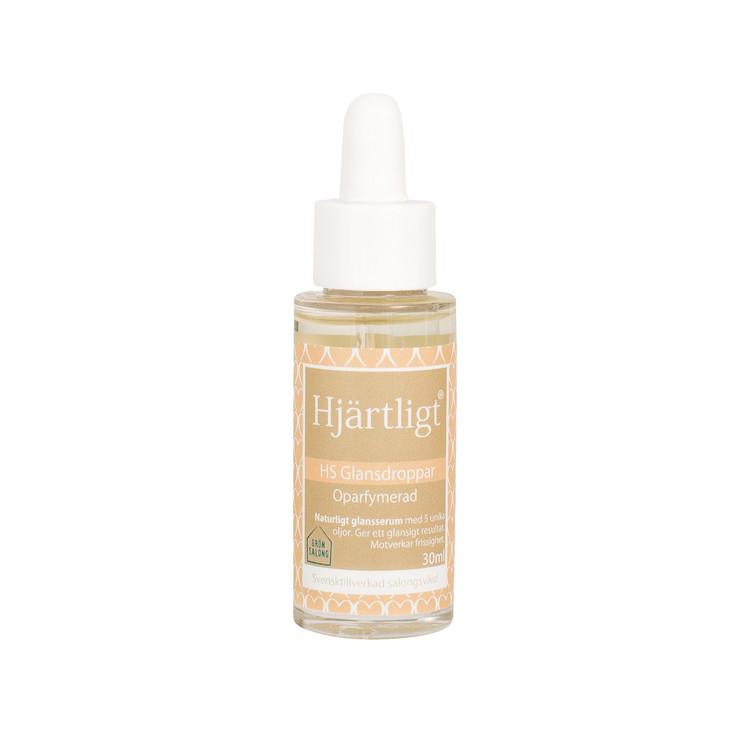 Glansdroppar - Parfymfri & allergivänlig - Hjärtligt 30ml