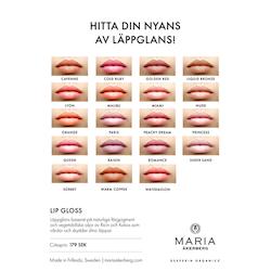 Lip Gloss - Vårdande Läppglans 17 nyanser - Maria Åkerberg