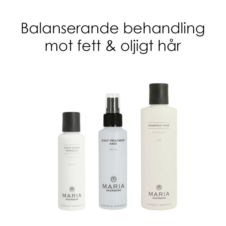 Balanserande trio mot fett hår - Maria Åkerberg