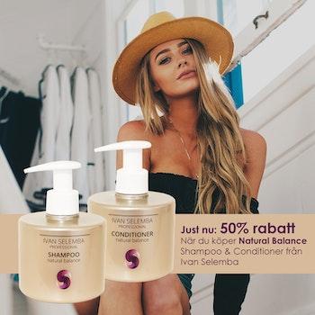 JUST NU: Natural Balance Shampoo & Balsam - Antifriss & återfuktande - 2 för 1