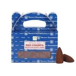 Backflow Dhoop Rökelsekoner - Nag Champa 24 st