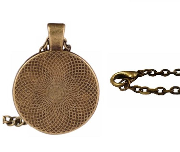 Halsband Rosa, Träd Vintage/brons