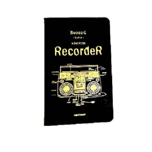 Anteckningsbok, Recorder