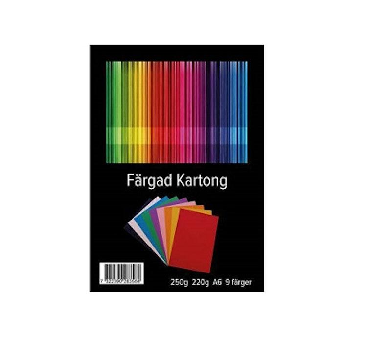 Färgade kort, 81 st