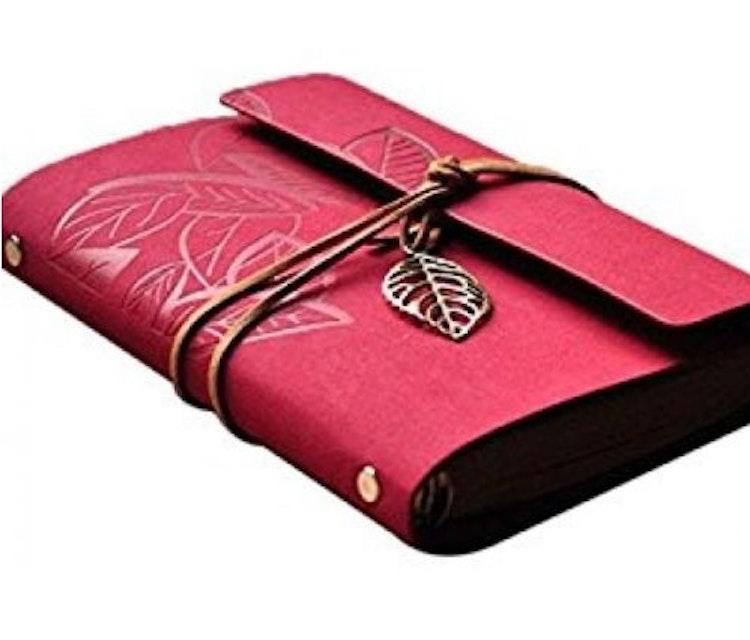 Rosröd Skrivbok, vintage