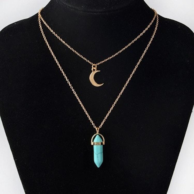 Halsband med Opal