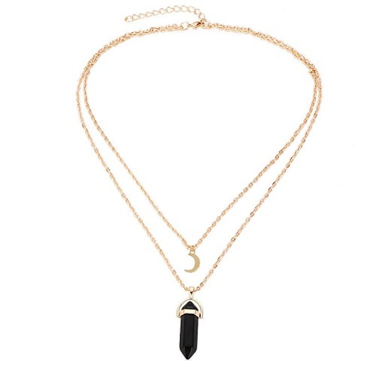 Halsband med Rosenkvarts