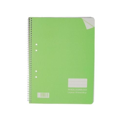 Kollegieblock A5, grön
