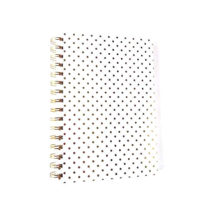 Skrivbok vit/guld