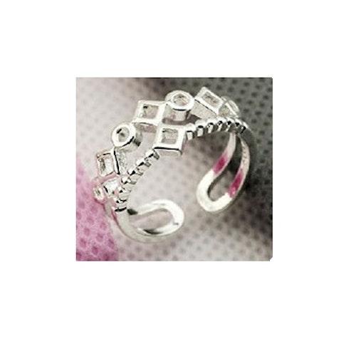 Silvrig ring