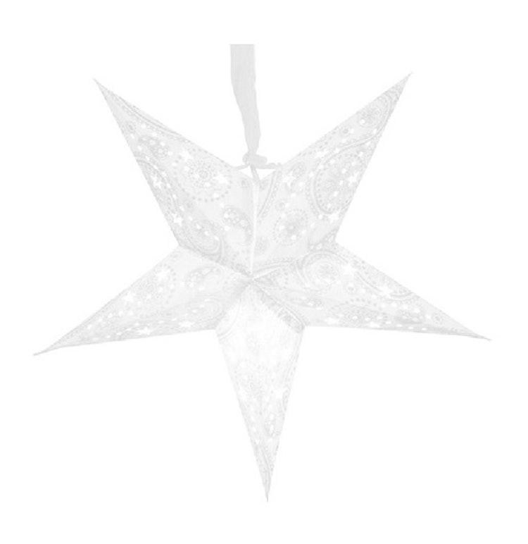 Adventsstjärna  Vit/Silver