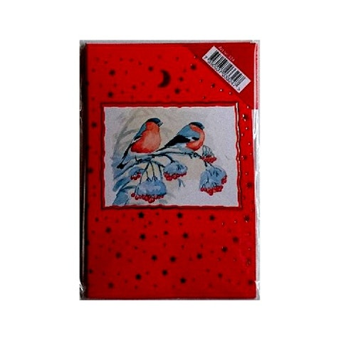 Julkort, 8-pack, Röd