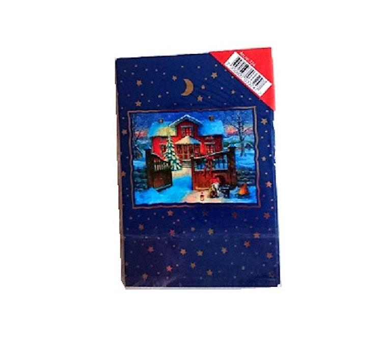 Julkort, 8-pack, Blå