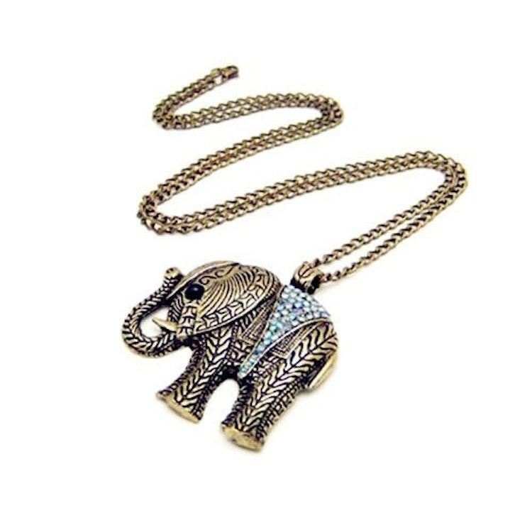 Vintage HALSBAND  Elefant
